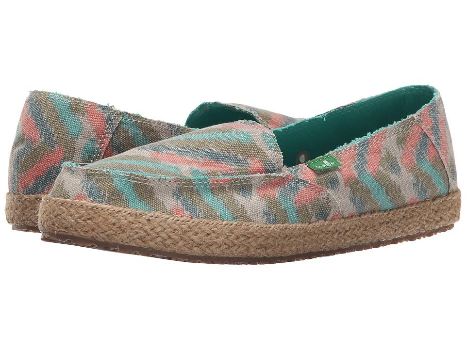 Sanuk Funky Fiona Natural Zig Zag Womens Slip on Shoes