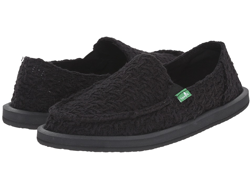 Sanuk - Donna Knit Stitch (Black) Women