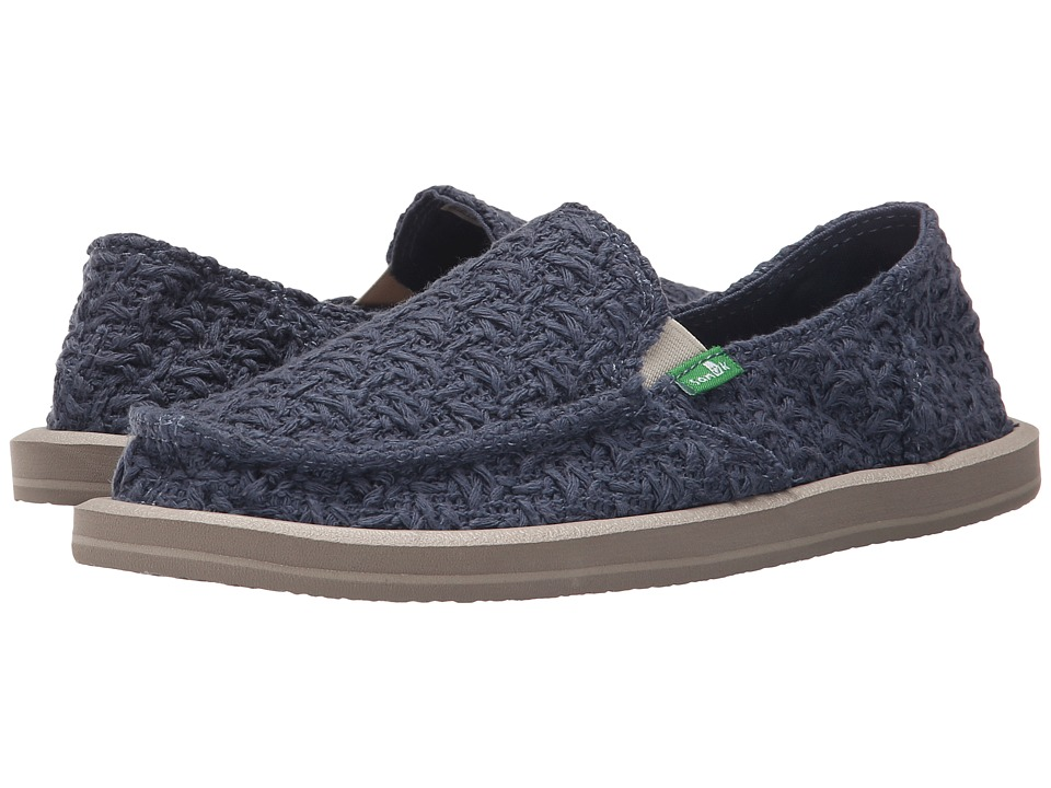 Sanuk Donna Knit Stitch (Slate Blue) Women