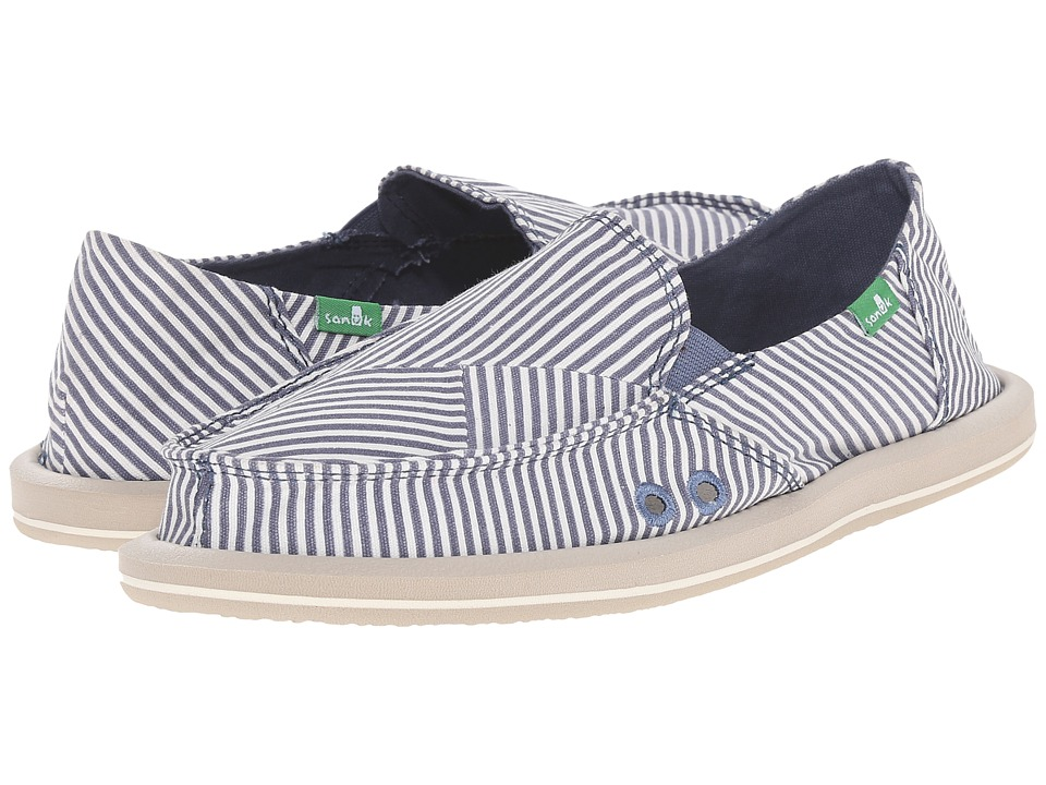 Sanuk Donna Polo (Slate Blue/White) Women