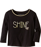 Tommy Hilfiger Kids - Long Sleeve Dollman Rib Neck Shine Tee (Little Kids)