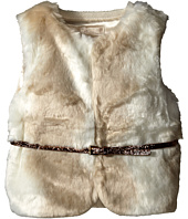 Tommy Hilfiger Kids - Fur Vest with Intarsia Sweater Back (Little Kids)