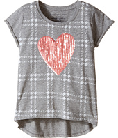 Tommy Hilfiger Kids - Heart On Plaid Tee (Big Kids)