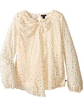 Tommy Hilfiger Kids - Printed Star Chiffon Bow Top (Big Kids)