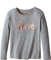 Tommy Hilfiger Kids - Long Sleeve Dollman Rib Neck Tee (Big Kids)