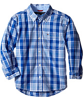 Tommy Hilfiger Kids - Long Sleeve Marlin Plaid Shirt (Toddler/Little Kids)