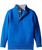 Tommy Hilfiger Kids - Long Sleeve Zac 1/2 Zip Solid Sweater (Toddler/Little Kids)