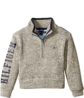 Tommy Hilfiger Kids - 1/4 Zip Marled Yarn Top (Toddler/Little Kids)
