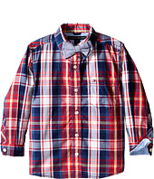 Tommy Hilfiger Kids - Long Sleeve Alfred w/ Bowtie Plaid Shirt (Toddler/Little Kids)