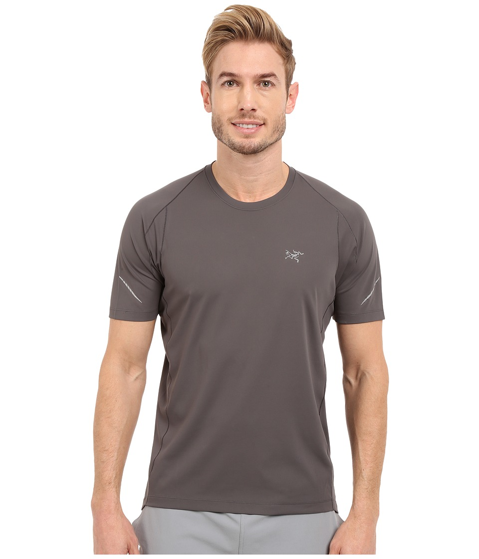 Arcteryx Accelerator Short Sleeve Iron Anvil Mens Clothing