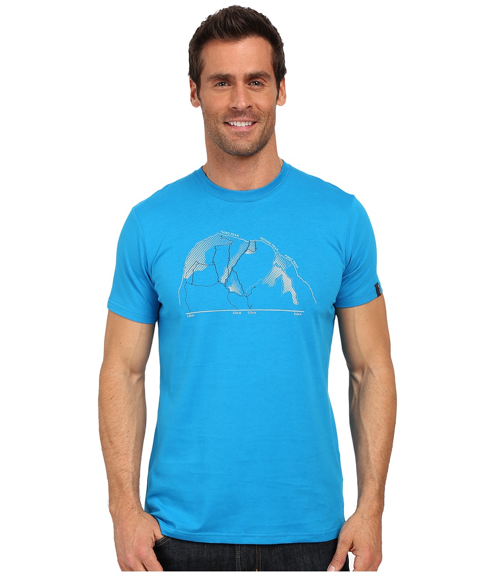 Arcteryx 3 Peaks Short Sleeve Crew Adriatic Blue Mens Clothing