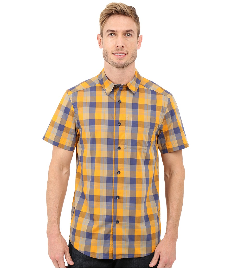 Arcteryx Brohm Short Sleeve Shirt Aspen/Smalt Mens Clothing