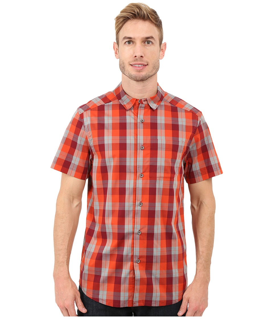 Arcteryx Brohm Short Sleeve Shirt Rojo/Autobahn Mens Clothing