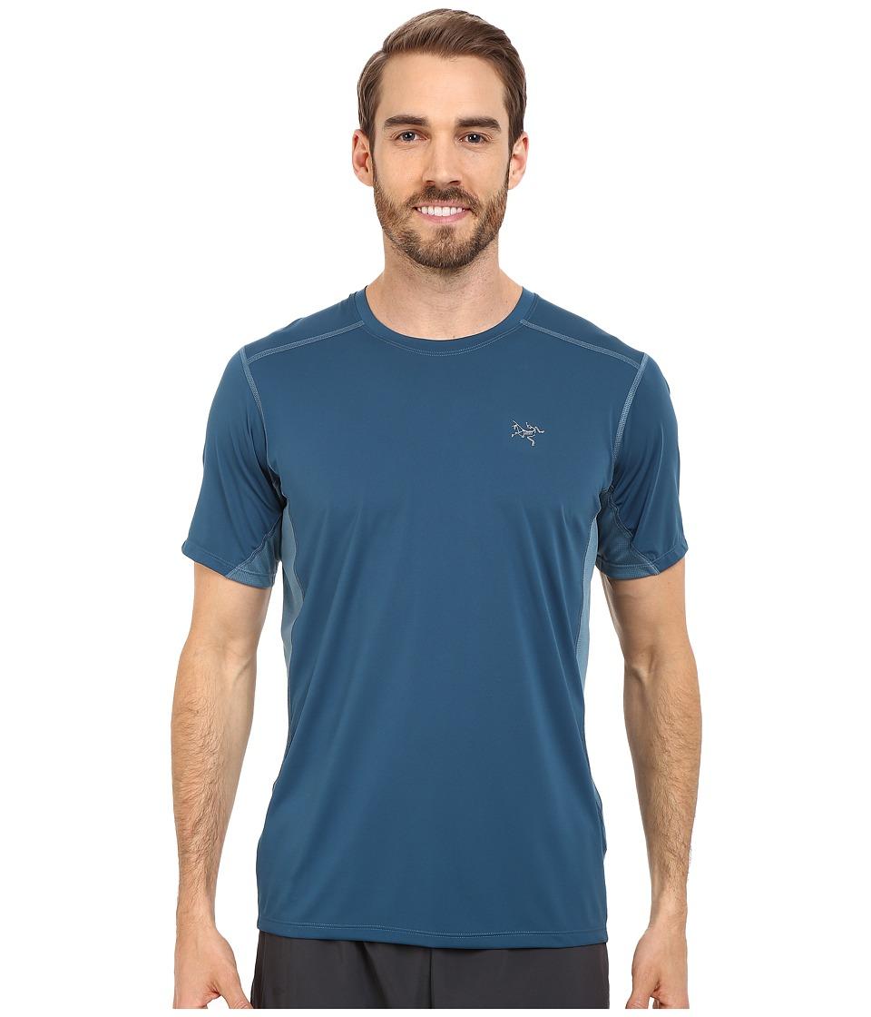 Arcteryx Accelero Comp S/S Legion Blue Mens Short Sleeve Pullover