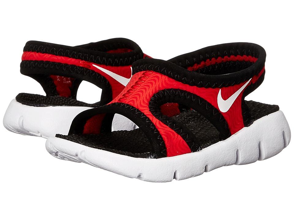 Nike Kids Sunray 9 Infant/Toddler University Red/Black/White Boys Shoes