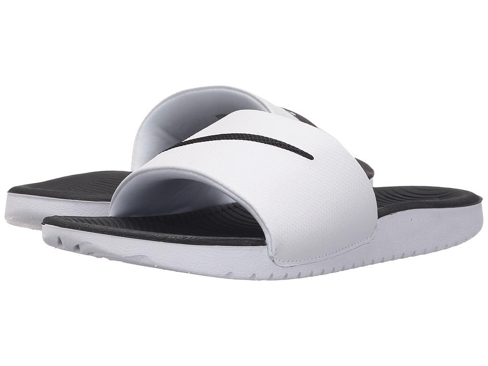 Nike Kids - Kawa Slide (Little Kid/Big Kid) (White/Black) Boys Shoes