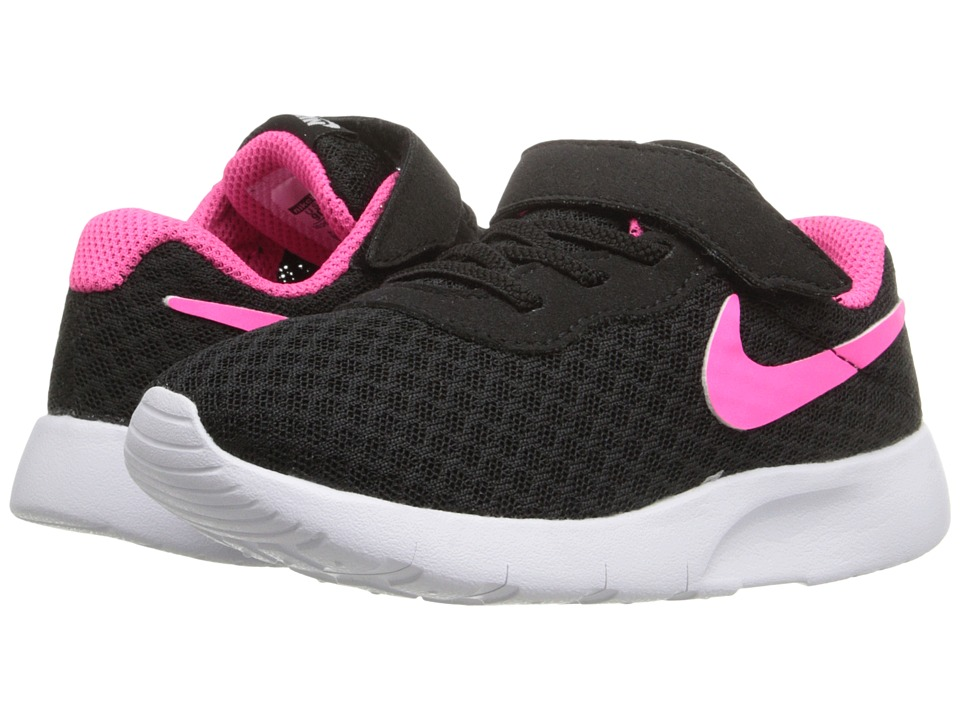 Nike Kids Tanjun (Infant/Toddler) (Black/White/Hyper Pink) Girls Shoes