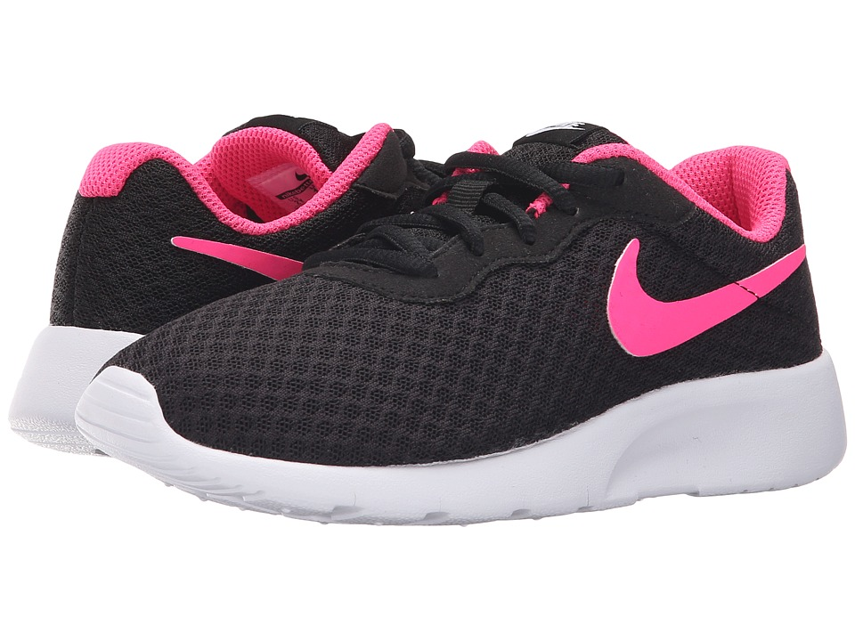 Nike Kids - Tanjun (Little Kid) (Black/White/Hyper Pink) Girls Shoes