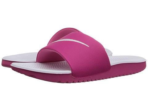 Nike Kids Kawa Slide (Little Kid/Big Kid) - Vivid Pink/White