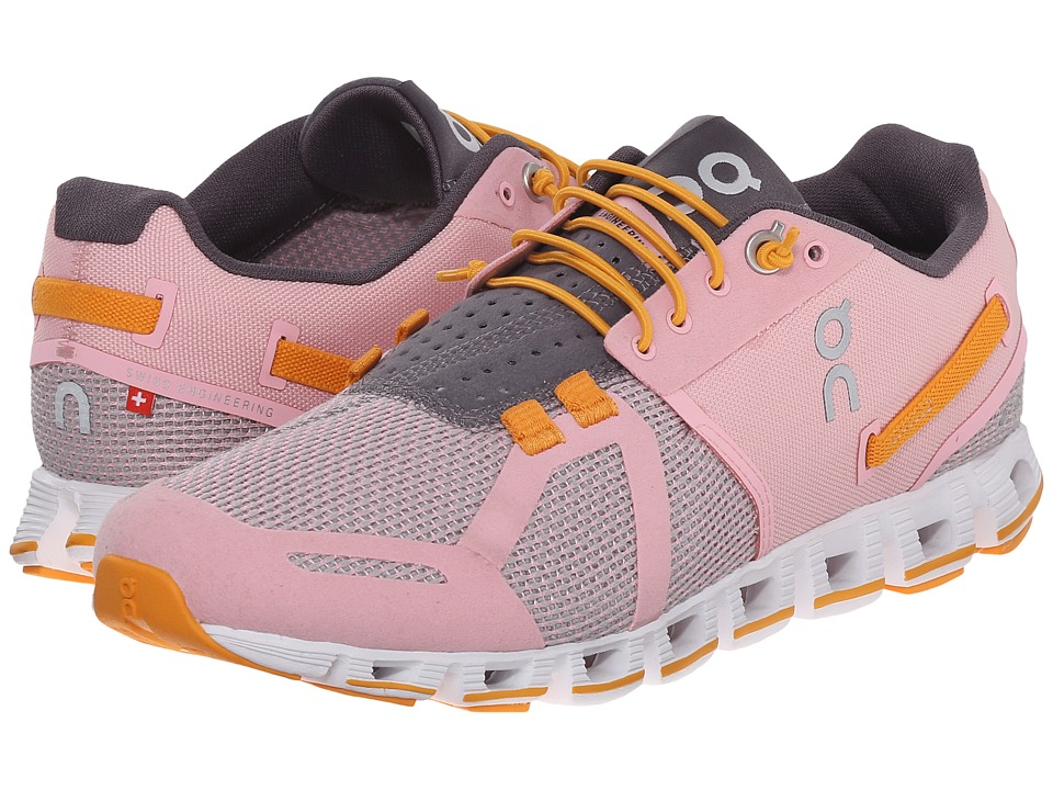 On Cloud Orchid/Saffron Womens Running Shoes