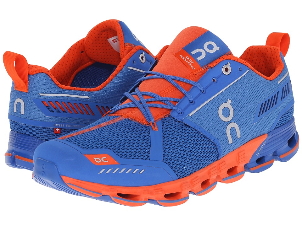 On Cloudflyer Water/Flame Mens Shoes