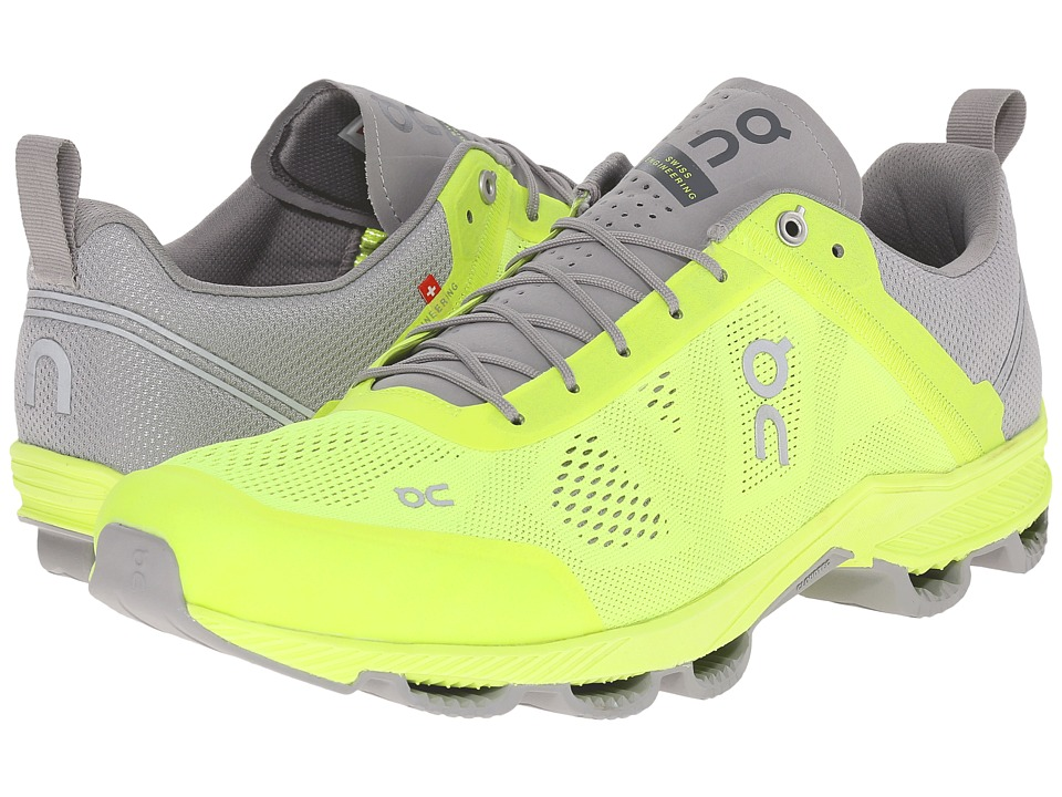 On Cloudsurfer Neon/Grey Mens Running Shoes