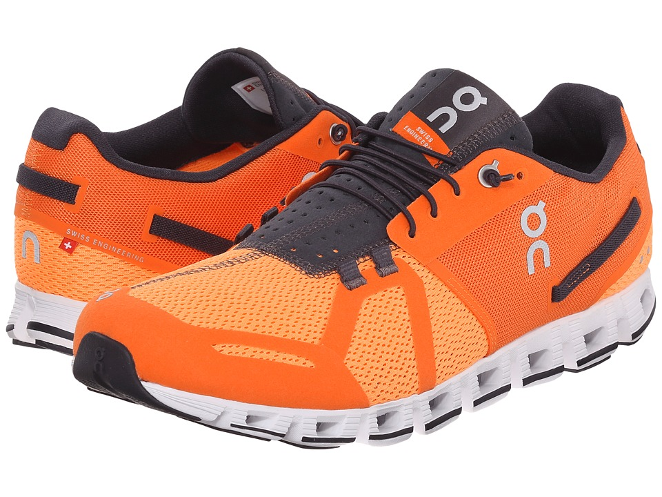 On Cloud Orange/Fire Mens Running Shoes