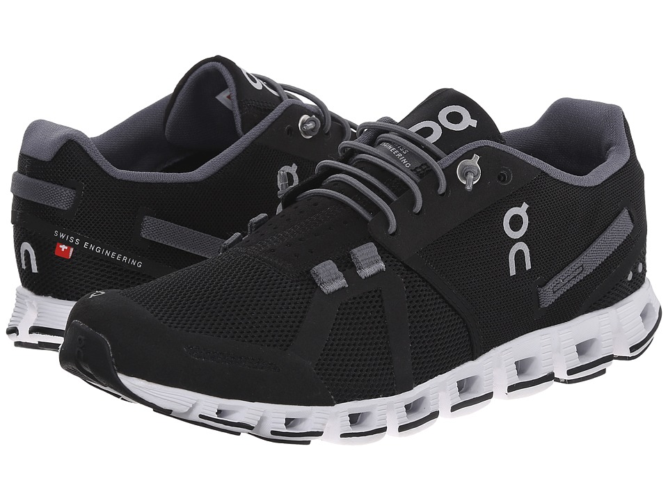 On Cloud Black/White 1 Womens Running Shoes