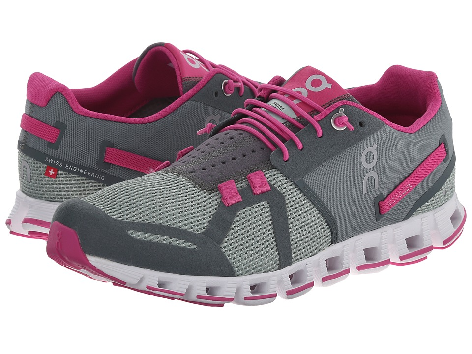 On Cloud Forest/Raspberry Womens Running Shoes