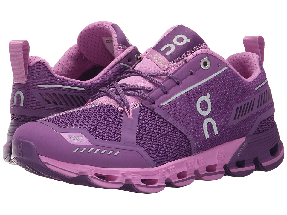 On Cloudflyer Purple/Rose Womens Shoes