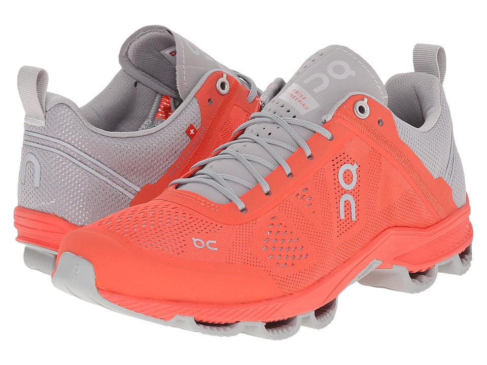 On - Cloudsurfer (Lava/Glacier) Women's Running Shoes