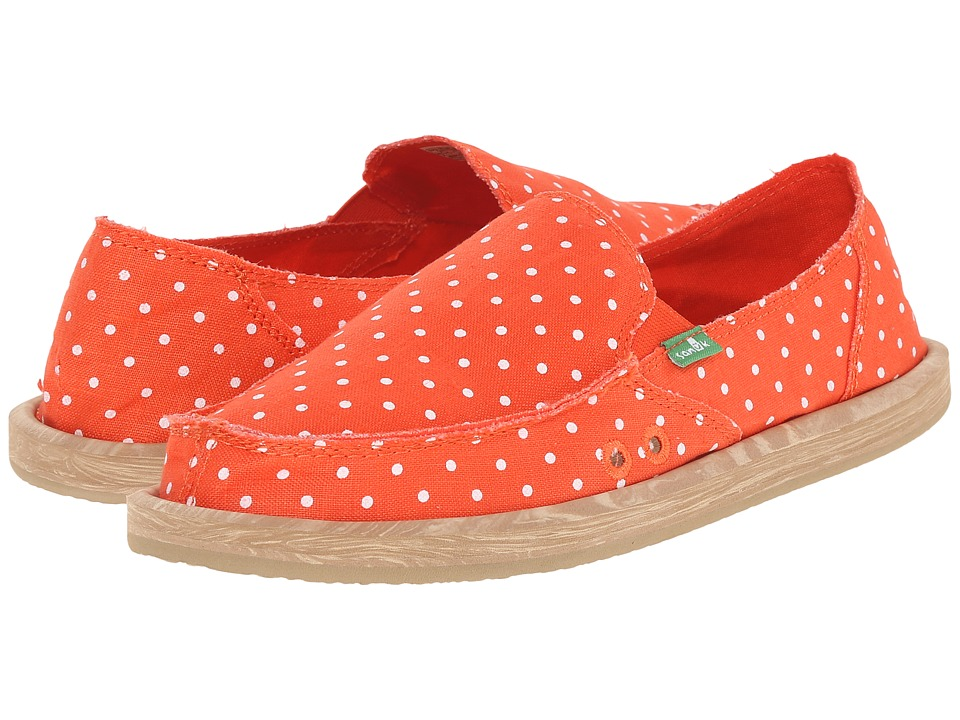 Sanuk - Hot Dotty (Flame/Natural Dots) Women