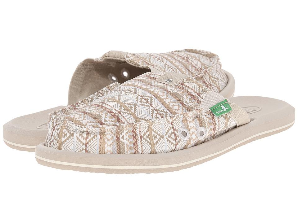 Sanuk Getaway 2 Natural/Multi Tribal Stripes Womens Slip on Shoes