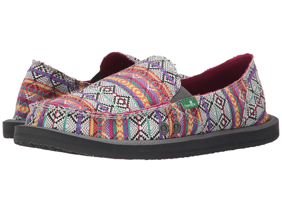 Sanuk - Donna Tribal (Magenta/Multi Tribal Stripe) Women