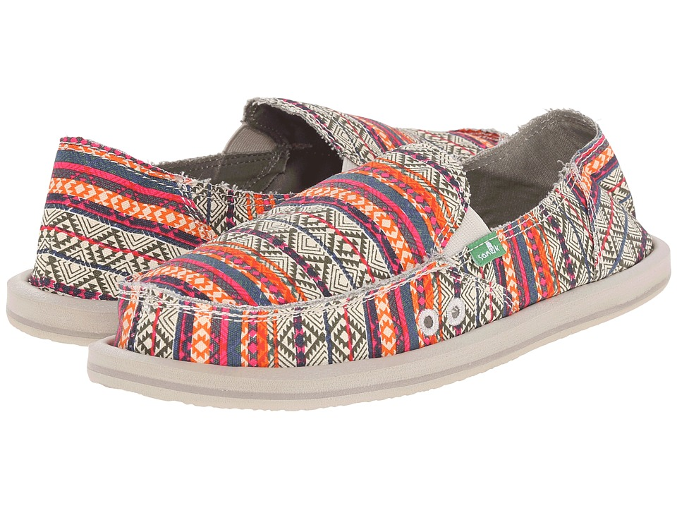 Sanuk - Donna Tribal (Olive/Multi Tribal Stripe) Women