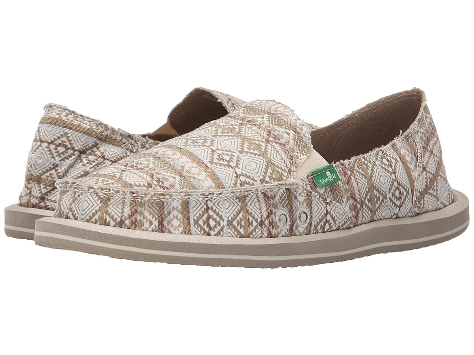 Sanuk - Donna Tribal (Natural/Multi Tribal Stripe) Women