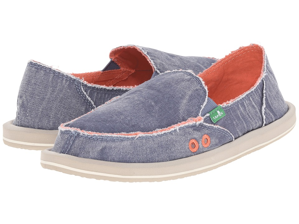 Sanuk - Donna Distressed (Slate Blue) Women