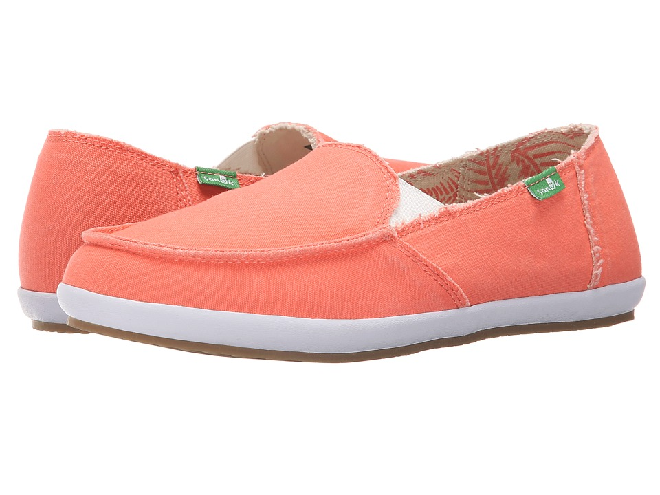 Sanuk - Overboard (Hot Coral) Women