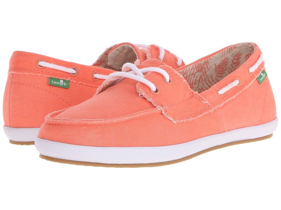 Sanuk - Sailaway 2 Fray (Hot Coral) Women