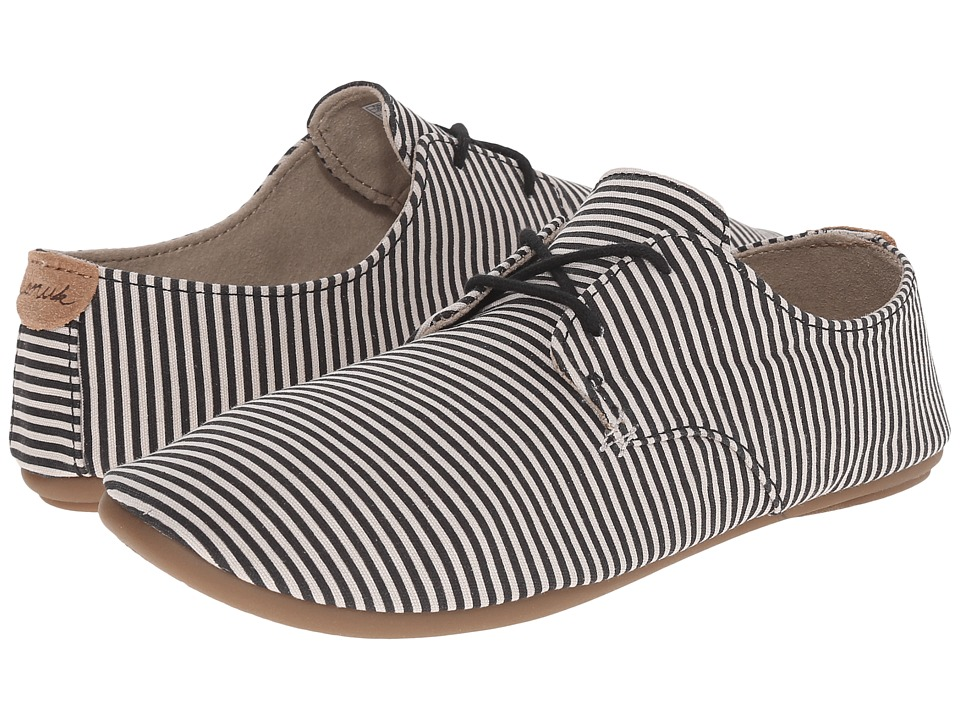 Sanuk - Bianca Prints (Black/Natural Stripes) Women