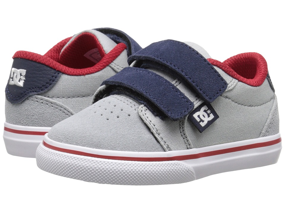 DC Kids Anvil V Toddler Grey/Red/White Boys Shoes