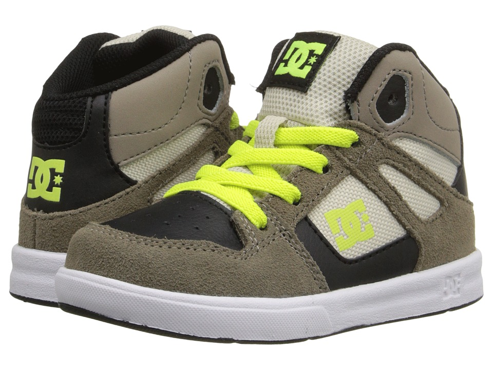 DC Kids Rebound UL Toddler Taupe Boys Shoes