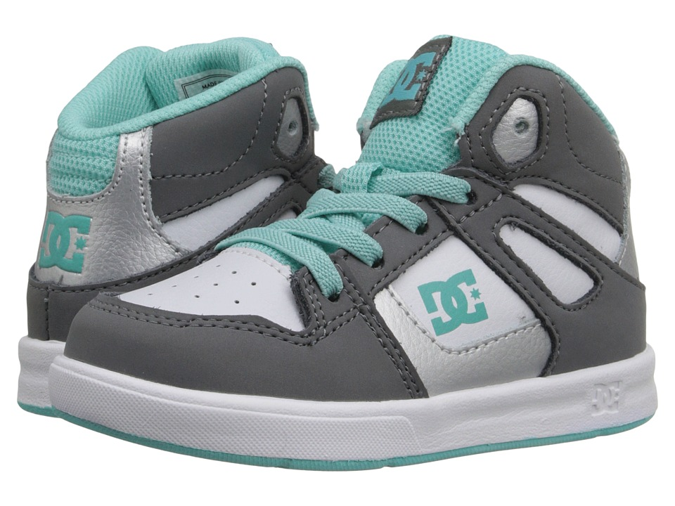 DC Kids Rebound UL Toddler Light Grey/Turquoise Girls Shoes