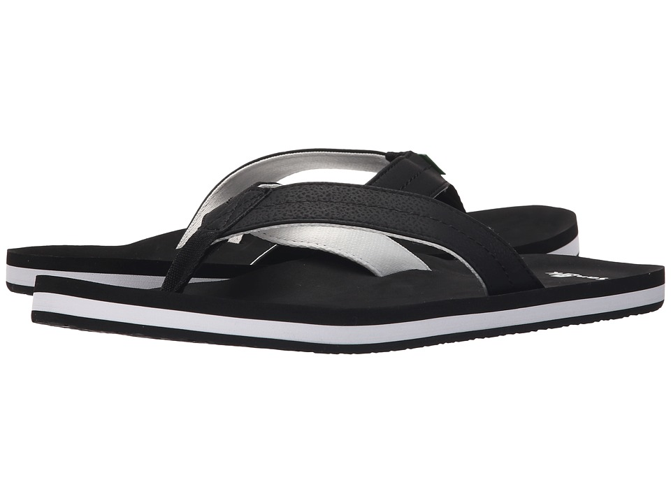 Sanuk - Burm (Black/White) Men