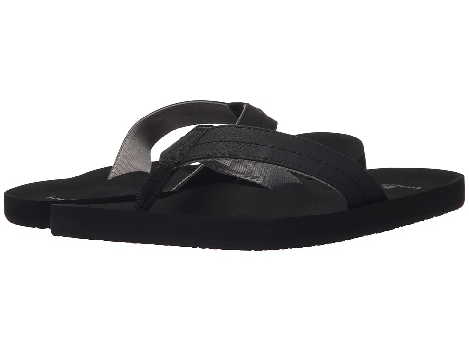 Sanuk - Burm (Black/Charcoal) Men
