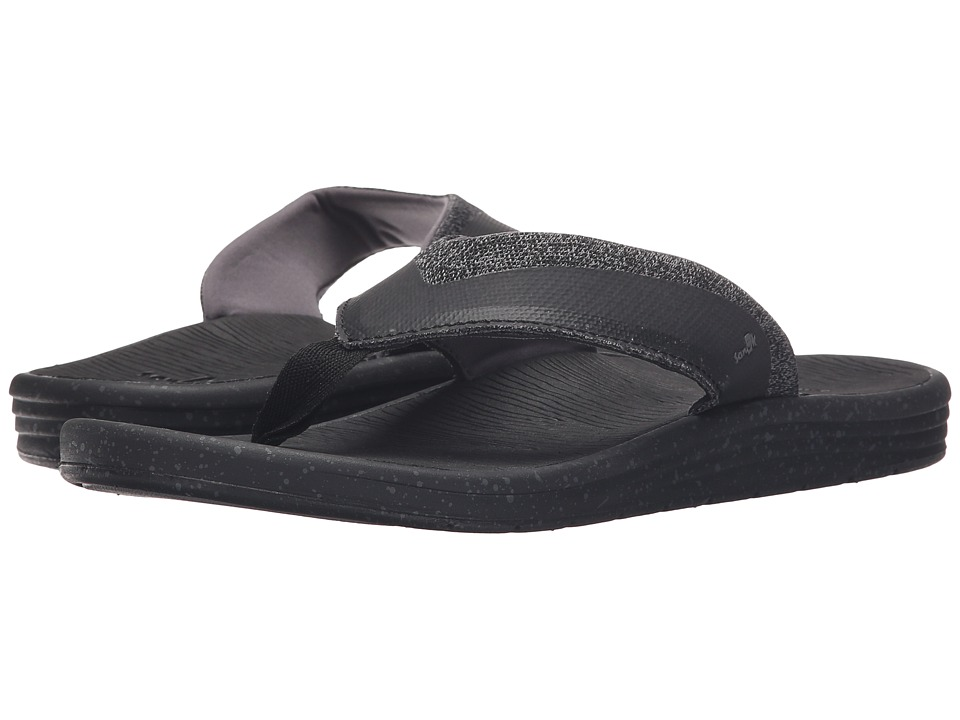 Sanuk - Compass (Black/Charcoal) Men