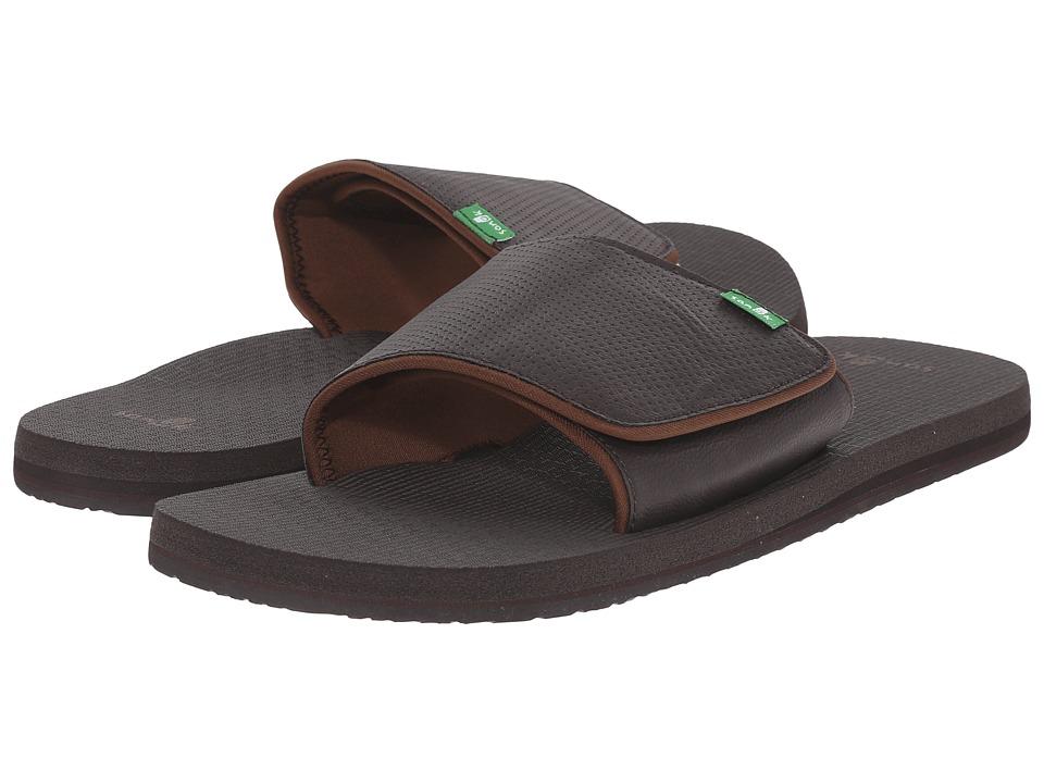 Sanuk Beer Cozy Light Slide Brown Mens Slide Shoes