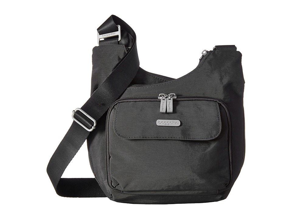 Baggallini Criss Cross (Charcoal) Cross Body Handbags