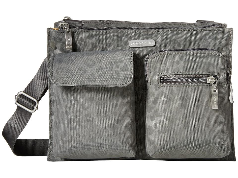 Baggallini - Everything Bagg (Pewter/Cheetah) Cross Body Handbags