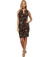 Calvin Klein - Animal Print Jersey Sheath Dress